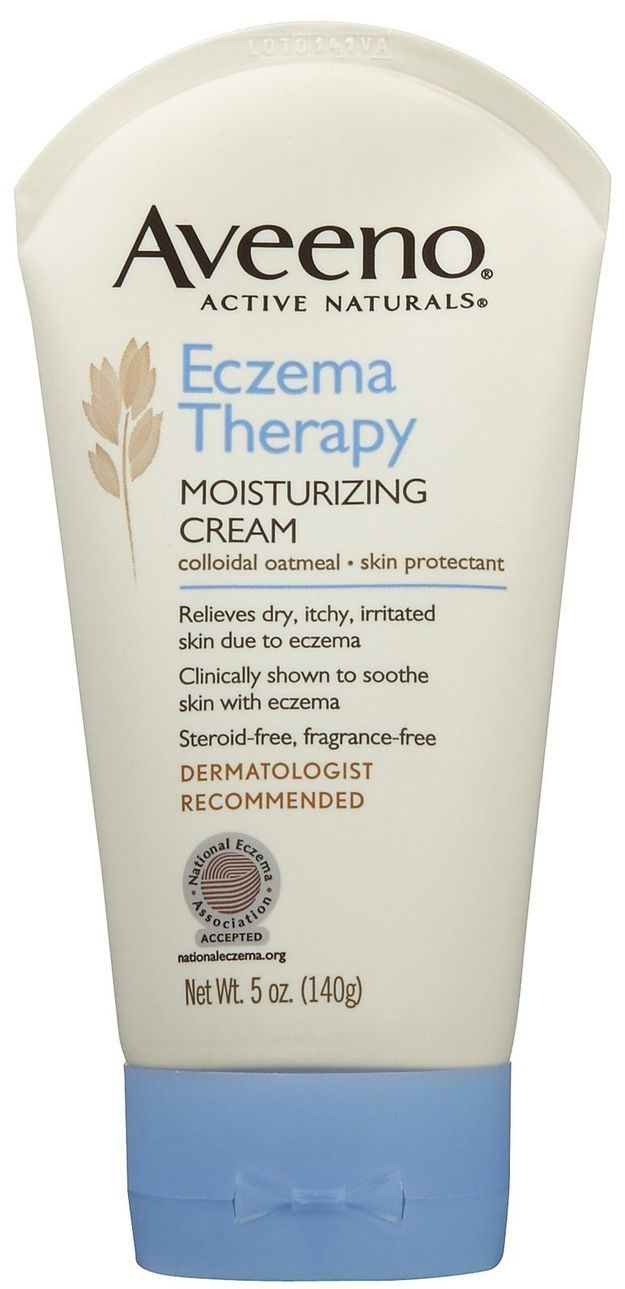 "Aveeno Eczema Therapy Moisturizing Cream, $12.69 from Drugstore.com | 41 Beauty Products That ""Really Work,"" According To Pinterest. ""Holy grail skincare product… I have eczema on my eyelid and this is safe to use there, no steroids, no fragrance. It works so quickly at getting my eczema under control! (see Aveeno's label for warnings about getting it IN your eye and stuff)."""