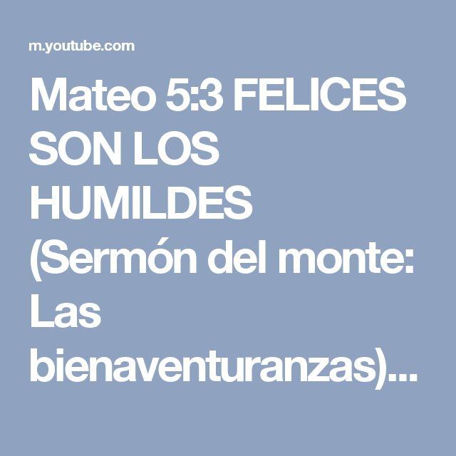Mateo 5:3 FELICES SON LOS HUMILDES (Sermón del monte: Las bienaventuranzas). Pastor John MacArthur - YouTube