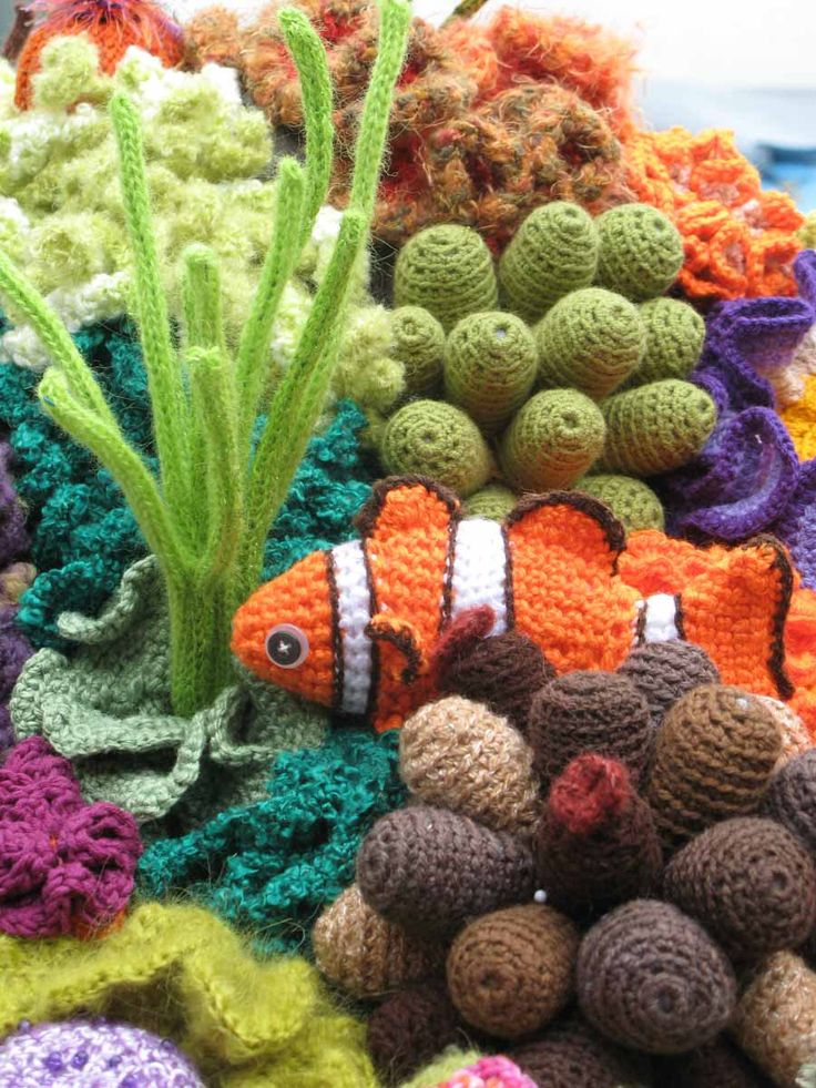 Crochet Coral Reef - Nemo!  I don't crochet but this makes me think I should learn!