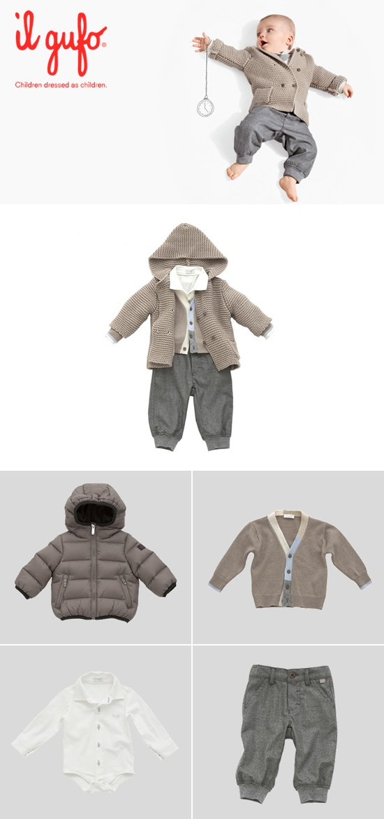Il Gufo AW 2012-13 #Fashion #children #kids #kidswear #girls #boys #outfit   Create your outfit #ilgufoutfit and become a pinner for this board!  Shop online: http://shop.ilgufo.it/en/fw-collection/baby-boy-0-2-years/looks.html
