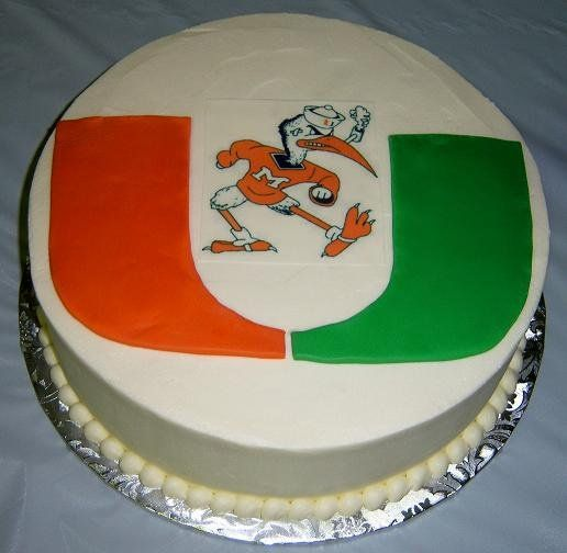 University Of Miami Cake Topper