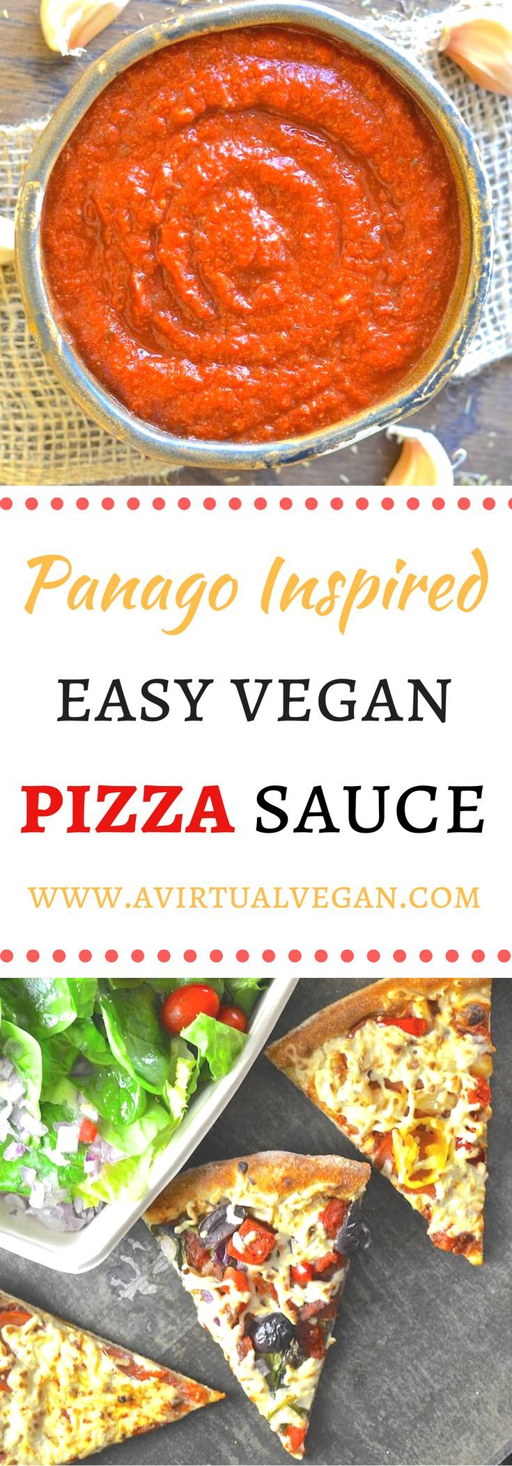 A hearty & rich oil- free vegan pizza sauce with an intense full flavour. Plus read my review of Panago Pizza's vegan offerings and enter my giveaway to win a Panago gift voucher! via @avirtualvegan