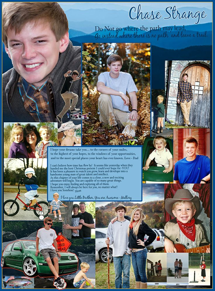 Best Senior Page Ideas Images On Pinterest Yearbook Layouts