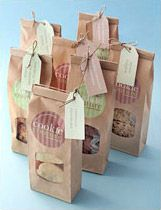 Cookie Couture - brown window bags