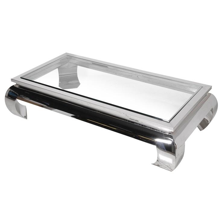 Terano Polished Silver Coffee Table