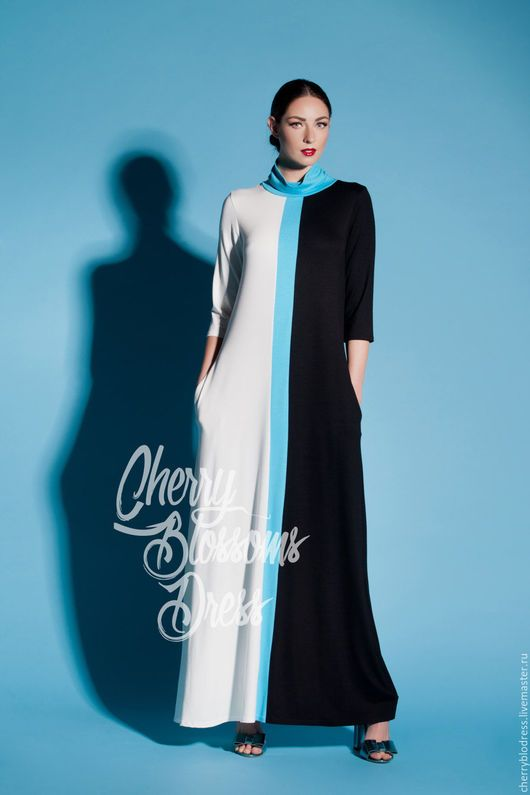 Платья ручной работы. Ярмарка Мастеров - ручная работа. Купить Макси летнее весеннее длинное вечернее платье с длинным рукавом. Handmade.