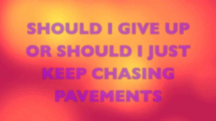 Adele -Chasing Pavements Lyrics