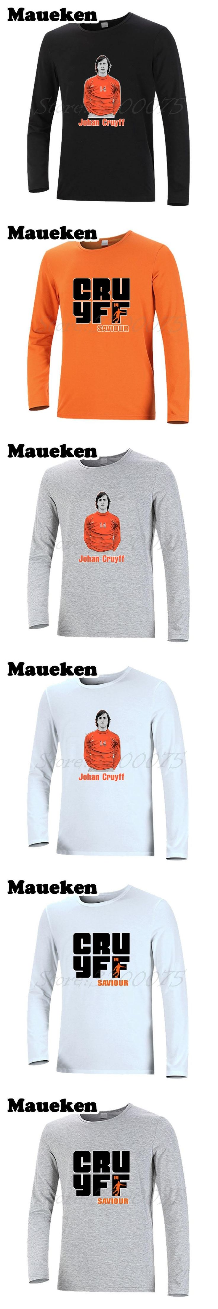 Long Sleeve Johannes Johan Cruyff saviour #14 Men T-Shirt barcelona Godfather Netherlands Legend T Shirt Autumn Winter W17100716