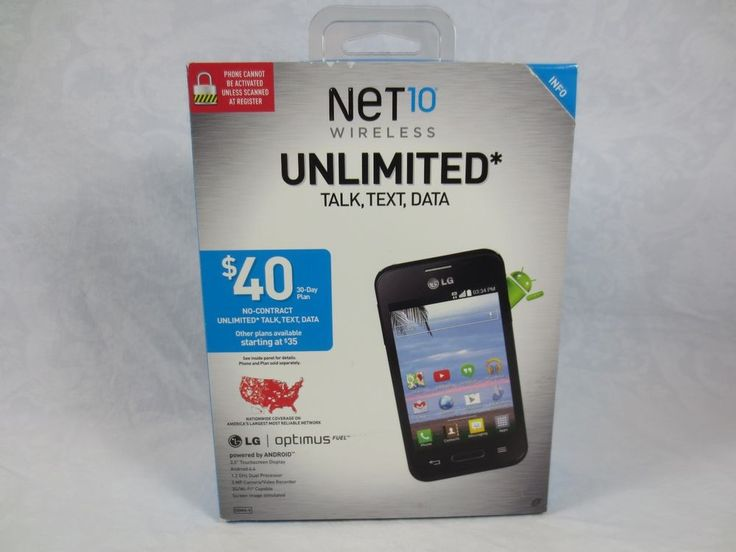 New in Box Net10 LG Optimus Fuel Smartphone Android ~No-Contract ~3G Wi-Fi #LG #Smartphone