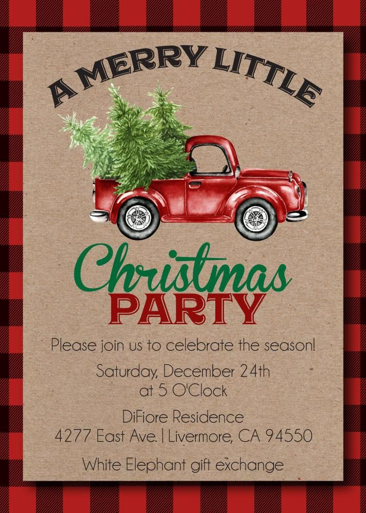 43 best Christmas Party Invitations images on Pinterest | Bulb ...