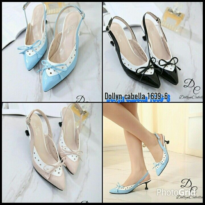 Dollyn Cabella Shusy Heels Shoes S1639 6 Colour Black Blue Pink