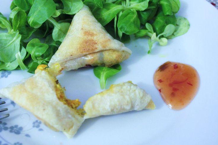 Samoussas épicés - sans gluten, sans lait et végétarien