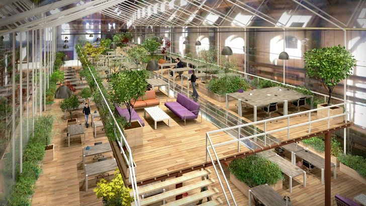 Abandoned Warehouse to Be Transformed into Lush Zero-Energy Office Space in Amsterdam