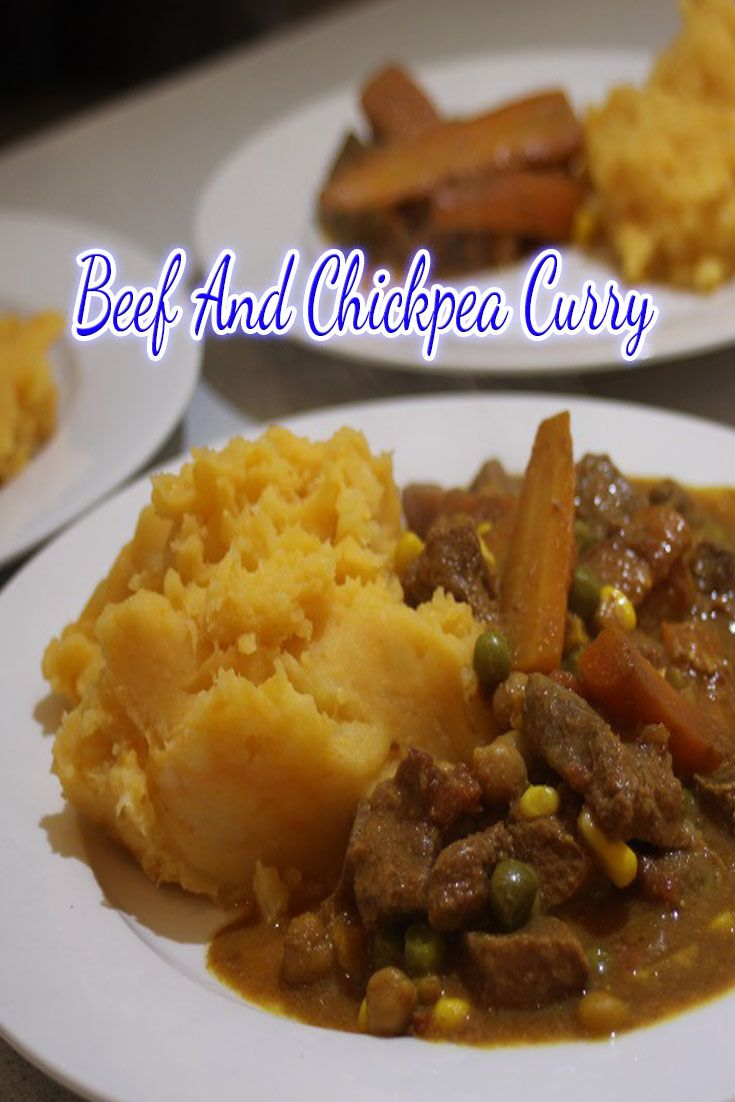 Beef and Chickpea Curry is a great way to use up older veggies and you can really bulk it up to get a few meals out of it.