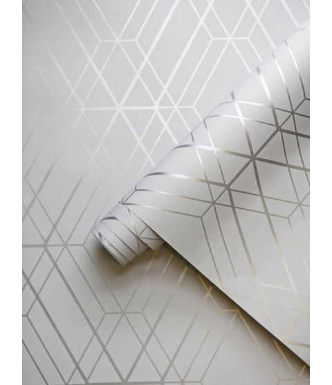 This Metro Diamond Geometric Wallpaper in Grey and Silver features contemporary metallic elements. Part of the World of Wallpaper Metro Collection. Free UK delivery available.