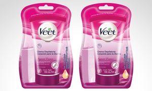 Groupon - 2 cremas depilatorias para la ducha Veet Suprem. Incluye despacho. Precio Groupon: $7.990