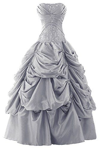 Sunvary Ball Gown Strapless Appliqued Ruffle Long Prom Gowns Quinceanera Dresses- US Size 12- Silver Sunvary http://www.amazon.com/dp/B00LFA3KWY/ref=cm_sw_r_pi_dp_IZ63tb0SYP2MWBA3