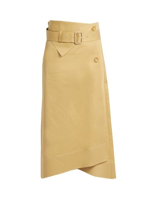 JOSEPH Berwick A-Line Cotton-Sateen Skirt. #joseph #cloth #skirt