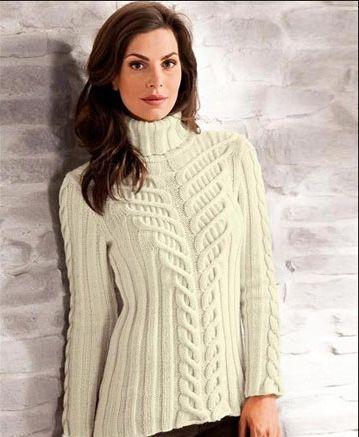 Suéter con un dibujo en relieve