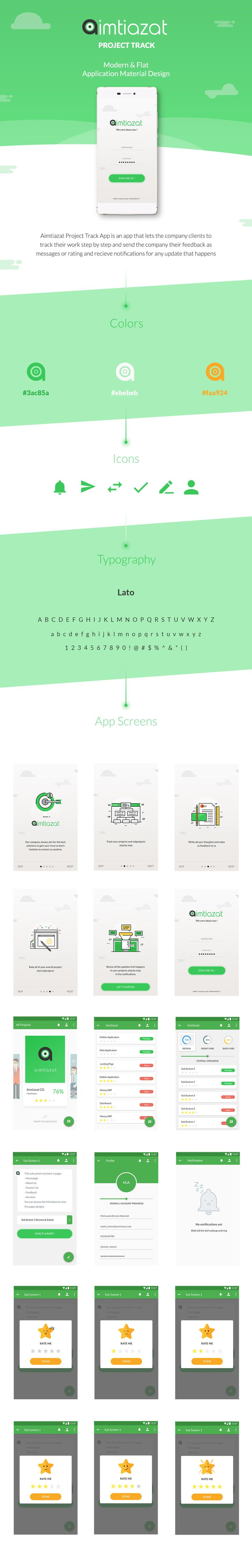 """Check out my @Behance project: """"Aimtiazat Project Track - Mobile App"""" https://www.behance.net/gallery/50632827/Aimtiazat-Project-Track-Mobile-App"""