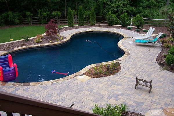 Pool Patio Too Hot Concrete Paver Slabs Look Like Stone With Low