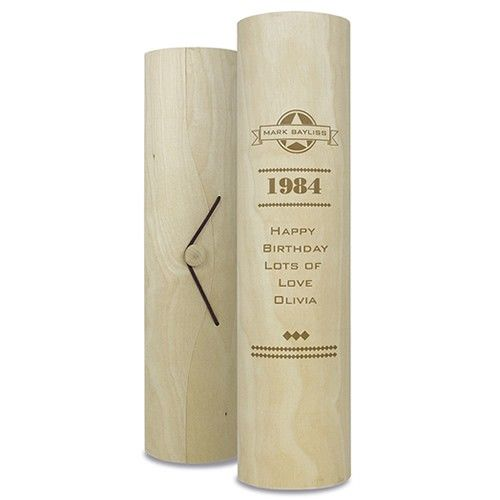 Personalised Diamonds Wooden Wine Cylinder  from www.personalisedweddinggifts.co.uk :: ONLY £14.99