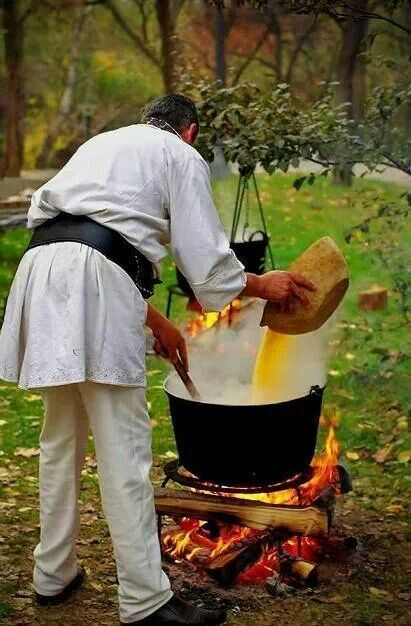 Polenta Preparation In Transilvania, Romania