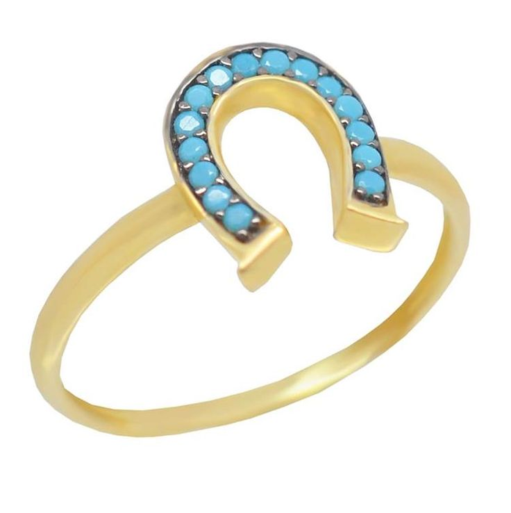 ΕΔ41P- Χρυσό δαχτυλίδι - πέταλο με πετρούλες τιρκουάζ