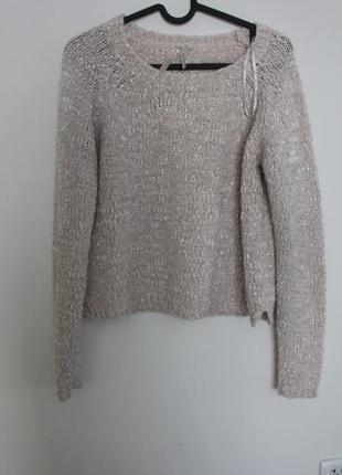 New Look krótki beżowy sweterek S
