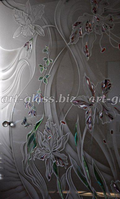Изготовление декоративных стеклянных дверей