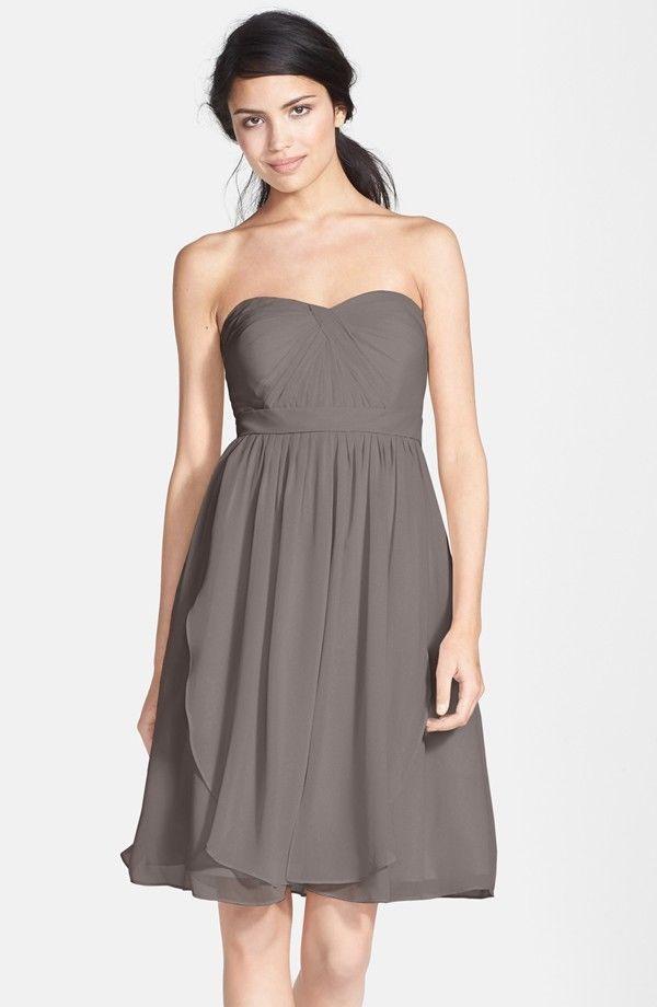 ff15355d06999 NWT Jenny Yoo Keira Convertible Strapless Chiffon Dress Charcoal SIZE 14  #494 #JennyYoo