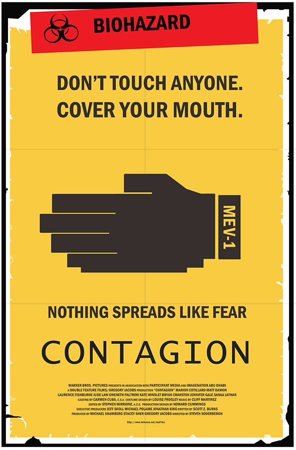 Contagion Poster on Behance | Poster, Minimal movie posters