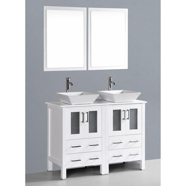 Bosconi 48 in. Double Bathroom Vanity Set - AW224S