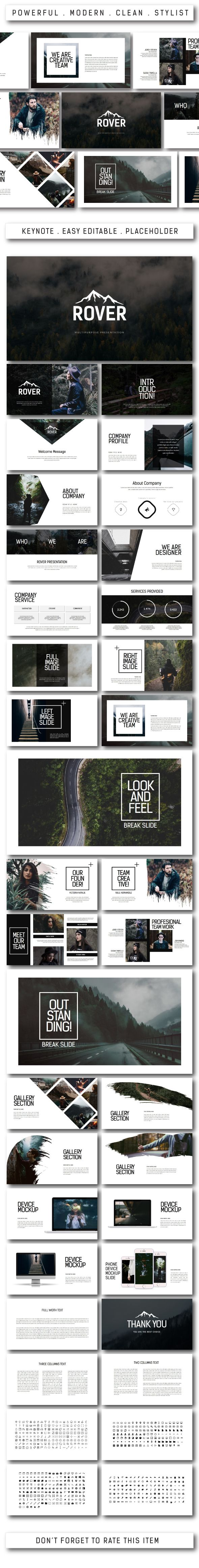 Rover Multipurpose Keynote Template - #Keynote Templates #Presentation Templates Download here: https://graphicriver.net/item/rover-multipurpose-keynote-template/20407208?ref=alena994