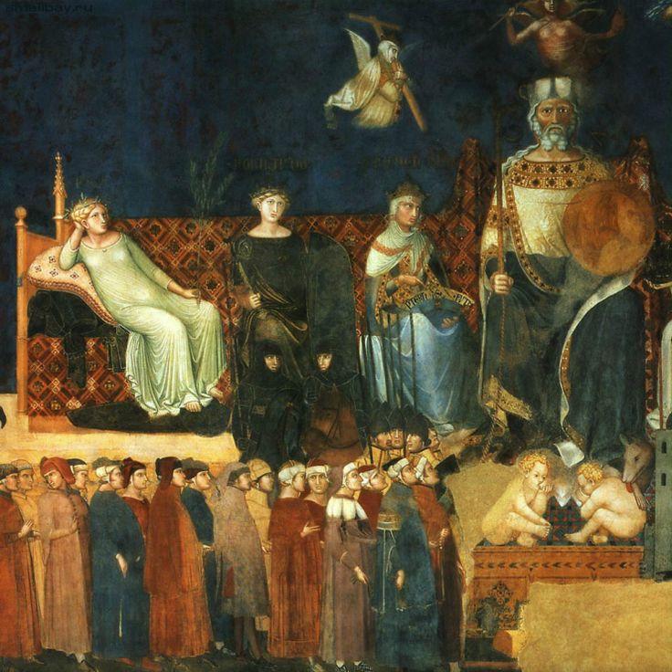 Лоренцетти Амброджо. Аллегория Доброго правления 1339, Палаццо Публико, Сиена