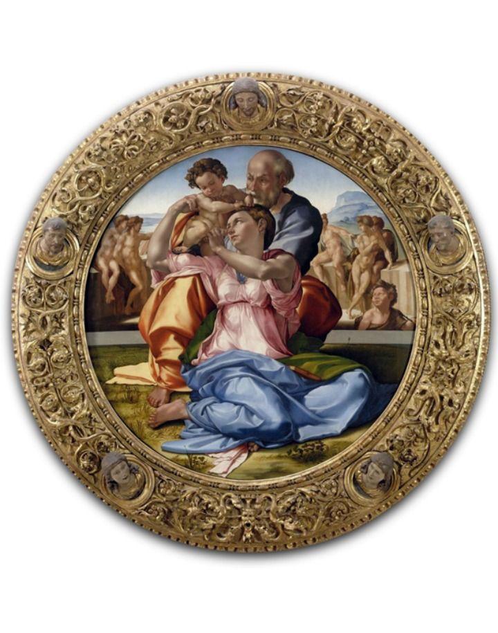 Doni Tondo, Michelangelo, 1504 - Uffizi Gallery, Florence, ITALY