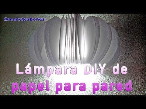 Lámpara de pared redonda hecha con papel | Tutorial DIY