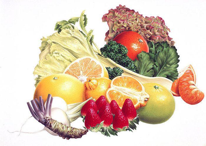 Открытки фрукты и овощи, дню рождения