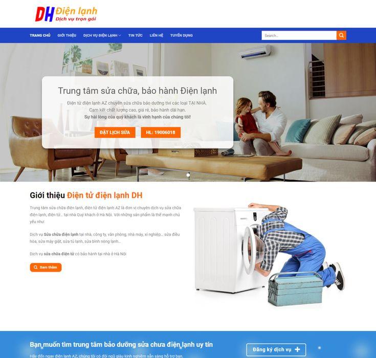 Mẫu web sửa chữa điện lạnh thumbnail