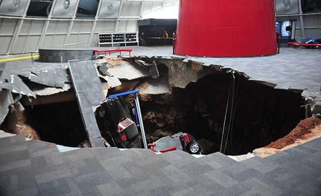 The Visuals from This Sinkhole at a Corvette Museum Are Ridiculous - Esquire