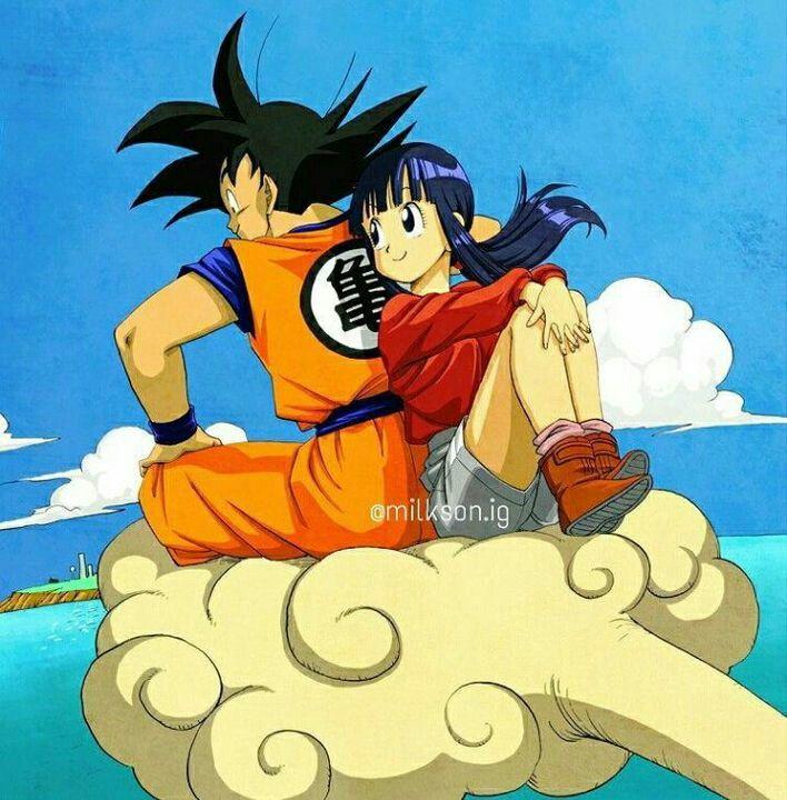 Pin Em Goku And Chichi