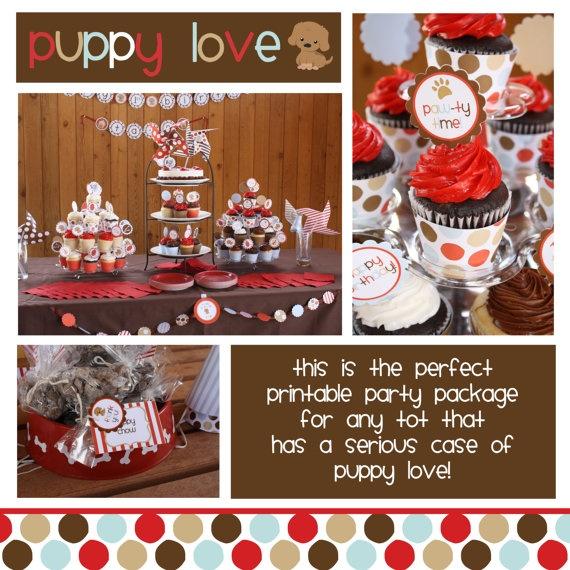 Puppy Party: Puppy Invitation, Puppy Partie, Dog Themed Birthday Cake, Birthday Parties, Puppy Party Printable, Dog Birthday, Dog Themed Cake, Puppy Birthday Cake