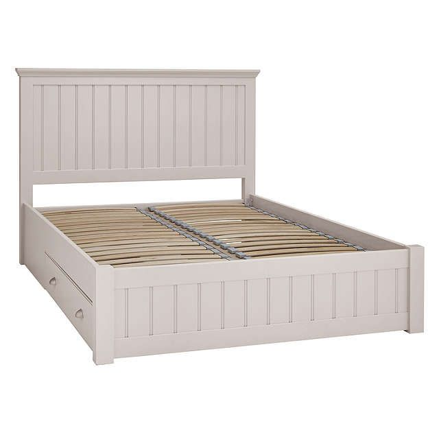 BuyJohn Lewis Helston Storage Bed, Double, Grey Online at johnlewis.com