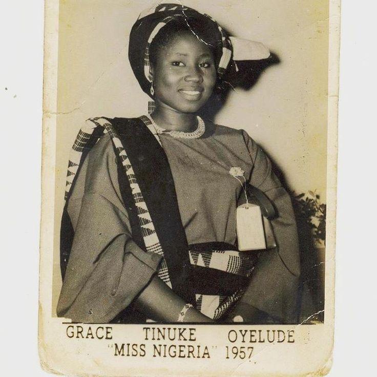 Grace Tinuke Oleyude. Miss Nigeria 1957. #beauty #vintage #miss #nigeria #archive #geneve #afrodyssee