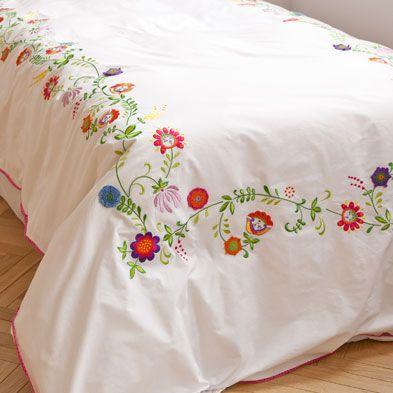 S banas y fundas flores bordadas zara home espa a - Fabricantes de sabanas en espana ...