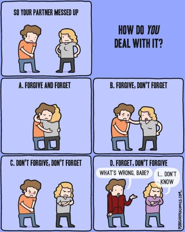 So Your Partner Messed Up How Do You Deal With It Comic Comics Fun Comics Funny Memes