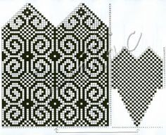 Image result for knitting patterns mittens chart
