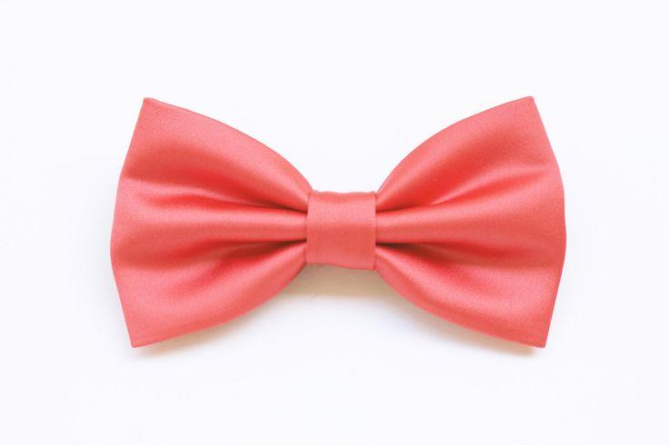 Papillon corallo rosa per uomo,sposo elegante,cravatta per cerimonia matrimonio nozze,accessori per matrimonio,accessori corallo pastello di ScoccaPapillon su Etsy
