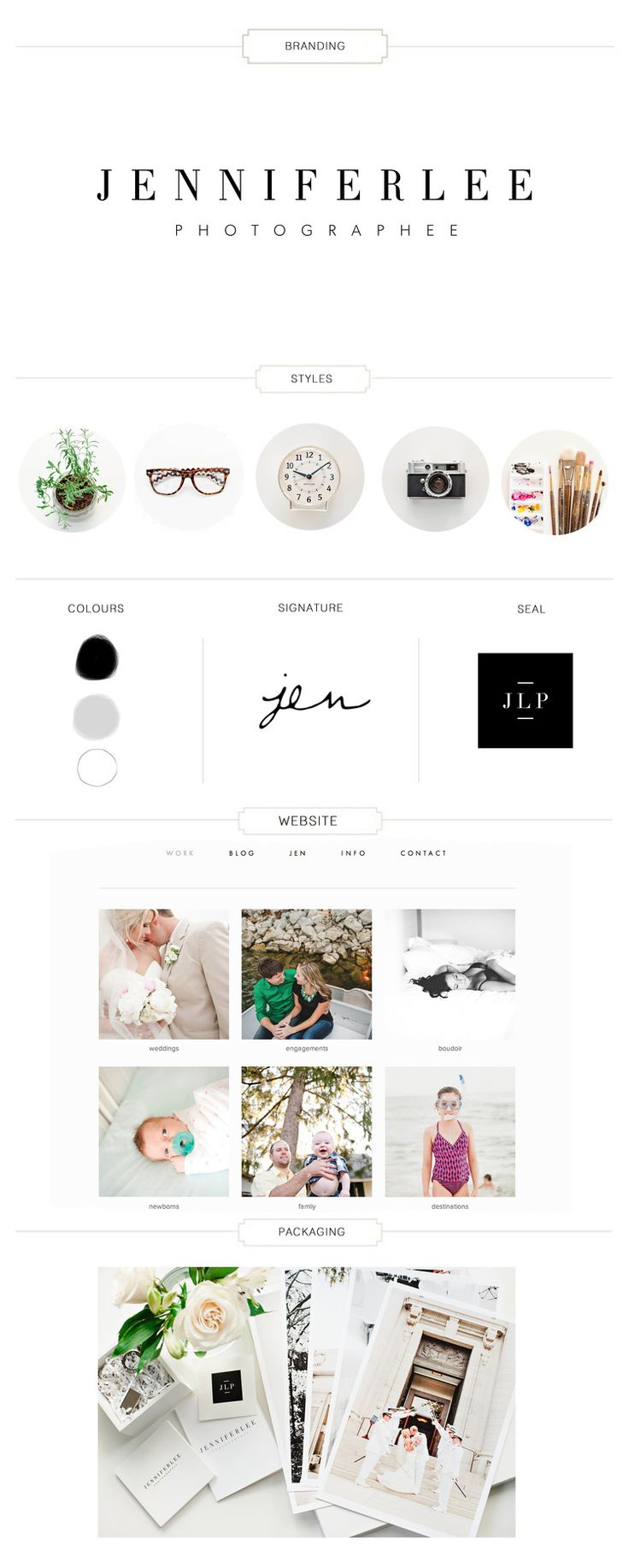Photography Branding Board | Jennifer Lee Photographee