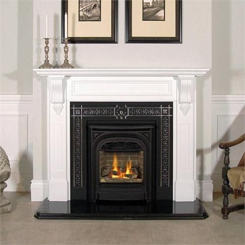 valor portrait gas fireplace with president front by miles industries on - Fireplace Fronts